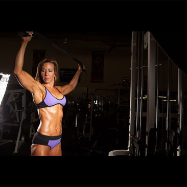 Modeling Photo Shoot, Linda Stephens, Figure Competition Model, Weight Room 2013
